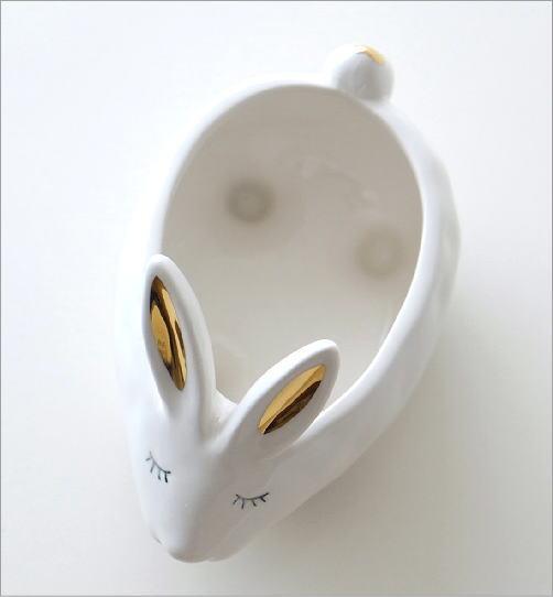 陶器のラビット小物入れ(3)