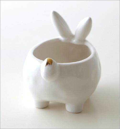 陶器のラビット小物入れ(4)