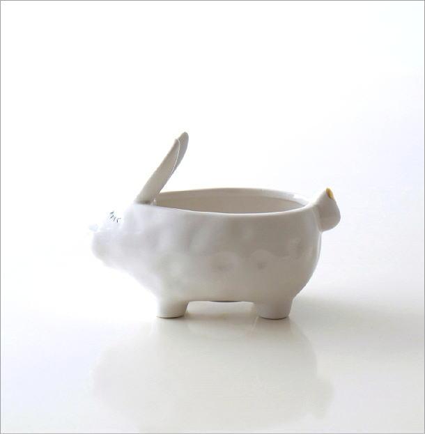 陶器のラビット小物入れ(5)
