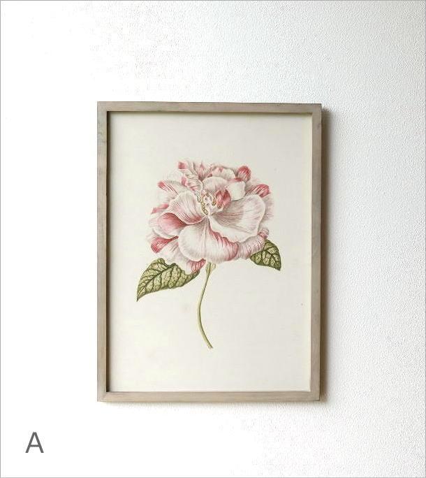 薔薇の花のレトロな額絵 4タイプ(1)
