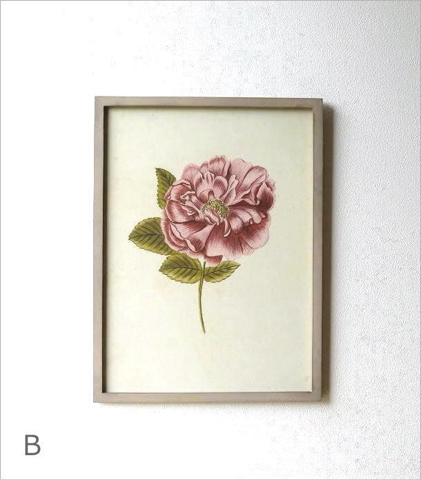 薔薇の花のレトロな額絵 4タイプ(2)