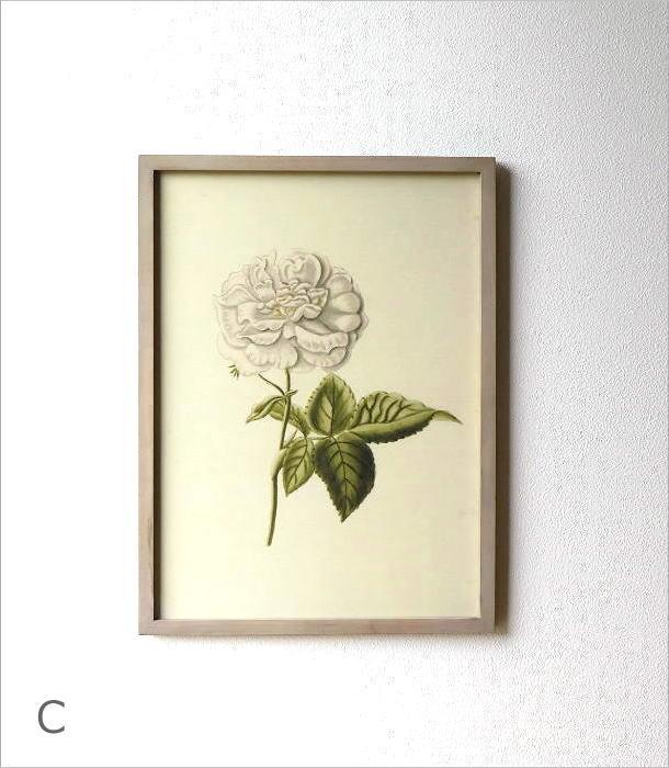 薔薇の花のレトロな額絵 4タイプ(3)