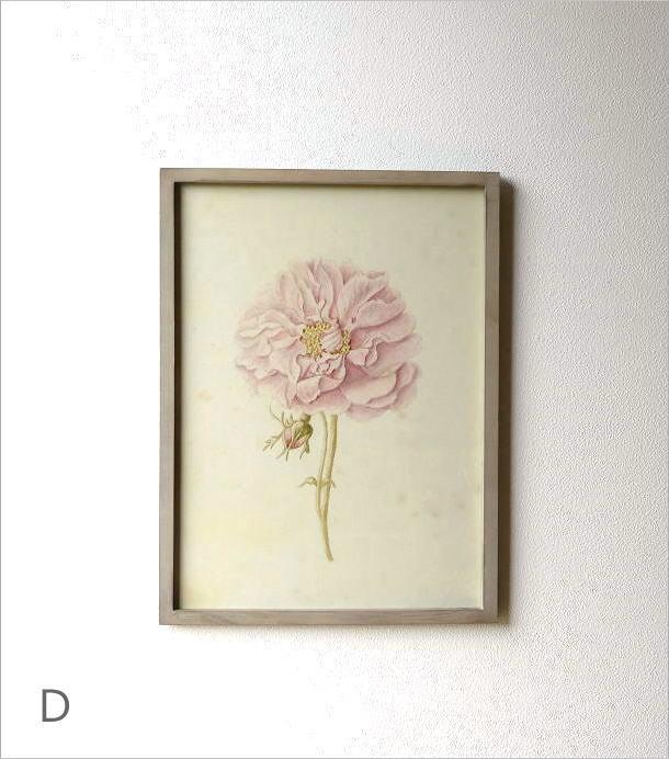 薔薇の花のレトロな額絵 4タイプ(4)