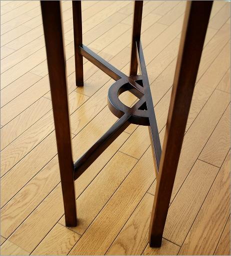 マホガニーコンソール 透かし彫り(6)