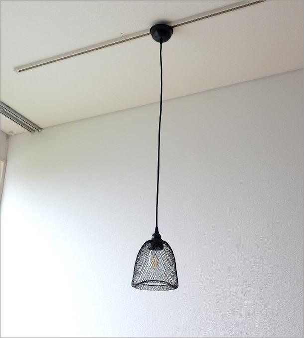 ブラックワイヤーペンダントランプ 0858(2)