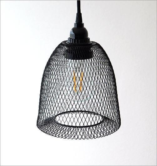 ブラックワイヤーペンダントランプ 0858(3)