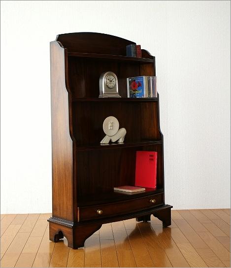 クラシック家具 マホガニーオープン本棚(5)