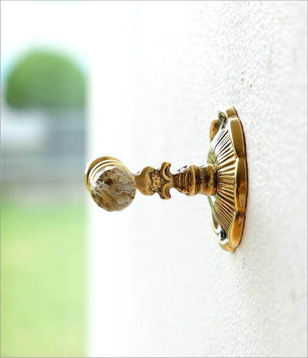 真鍮の壁掛フック(3)