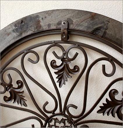 シャビーなウッドの飾り窓 サークル(3)