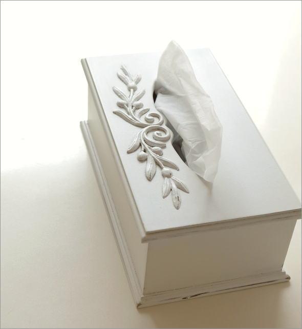 ホワイトウッドのティッシュボックス(1)