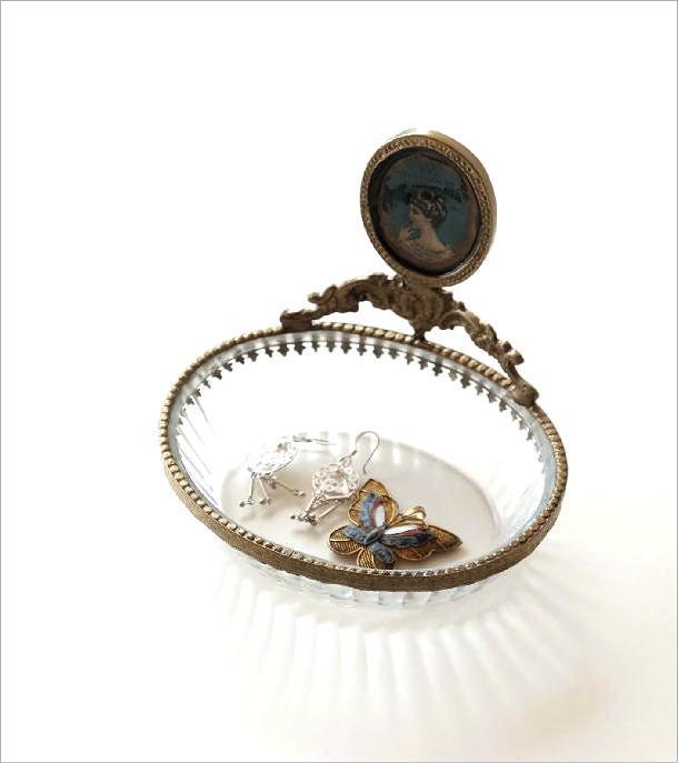 真鍮とガラスのトレー(1)