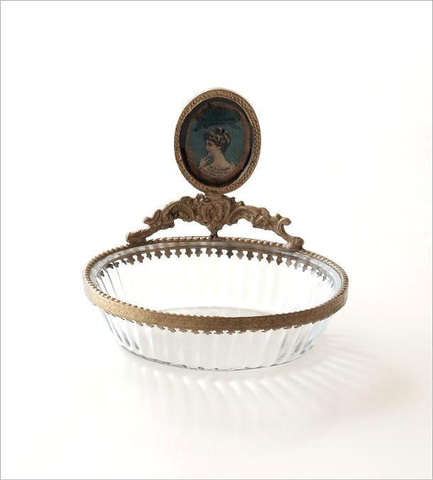 真鍮とガラスのトレー(4)