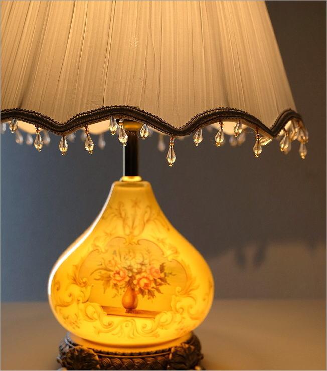 テーブルランプ ガラス絵(1)