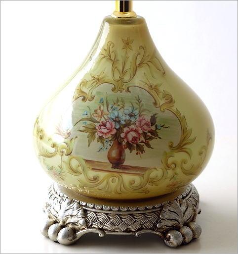 テーブルランプ ガラス絵(4)