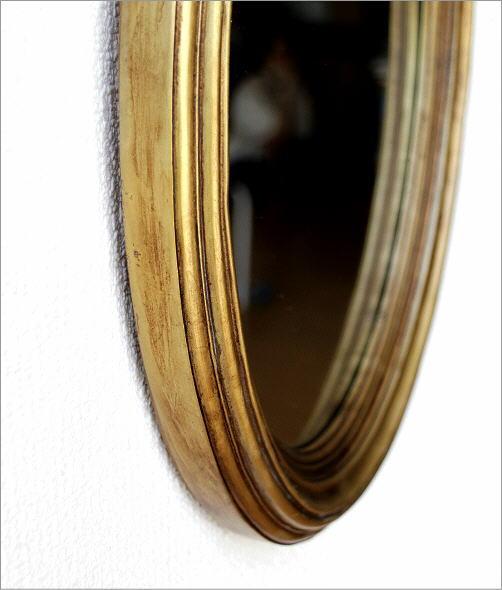 オーバルミラーゴールド リボン(3)