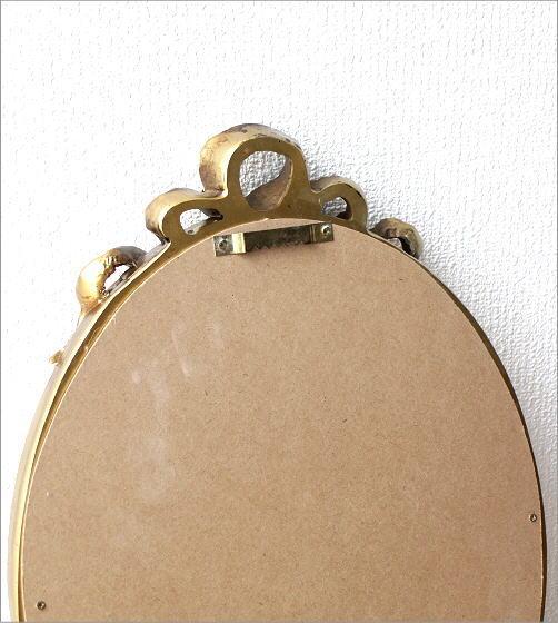 オーバルミラーゴールド リボン(4)