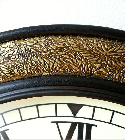 真鍮飾りのビックウォールクロック(2)