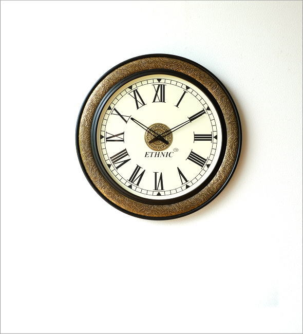 真鍮飾りのビックウォールクロック(5)
