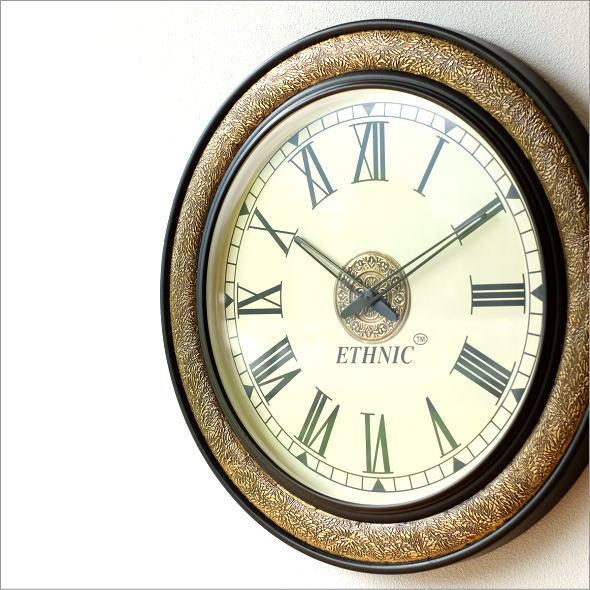 真鍮飾りのビックウォールクロック(6)