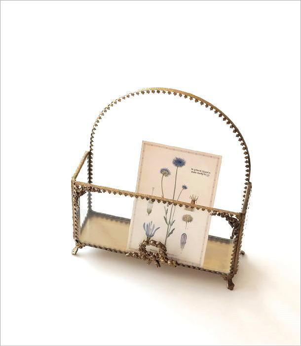 真鍮とガラスのレターラック(1)