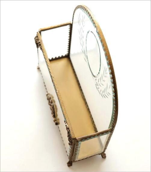 真鍮とガラスのレターラック(2)