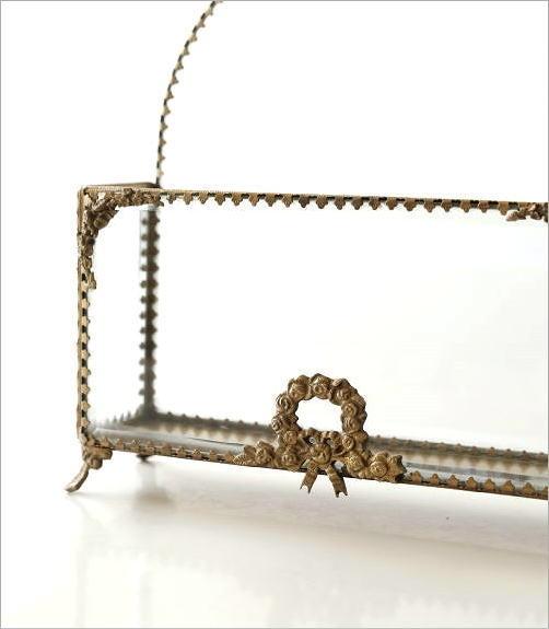 真鍮とガラスのレターラック(3)