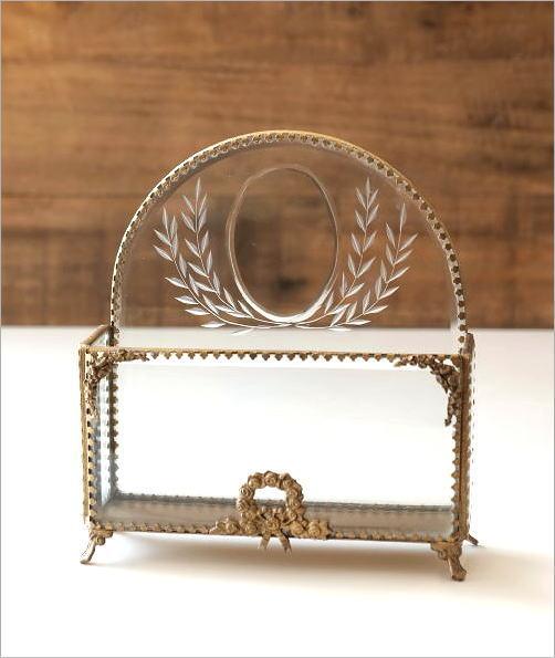真鍮とガラスのレターラック(4)