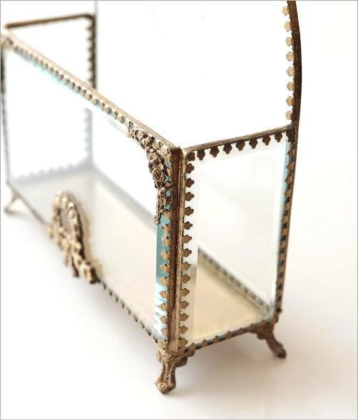 真鍮とガラスのレターラック(5)