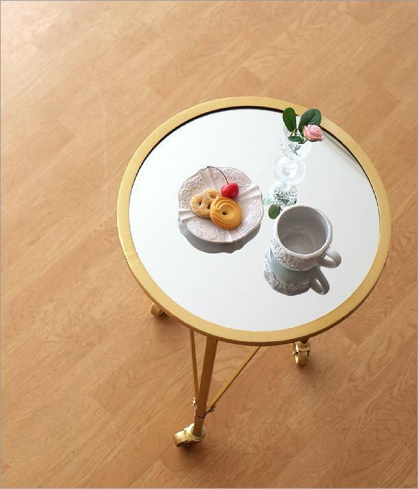アイアンとミラーのサイドテーブル(1)