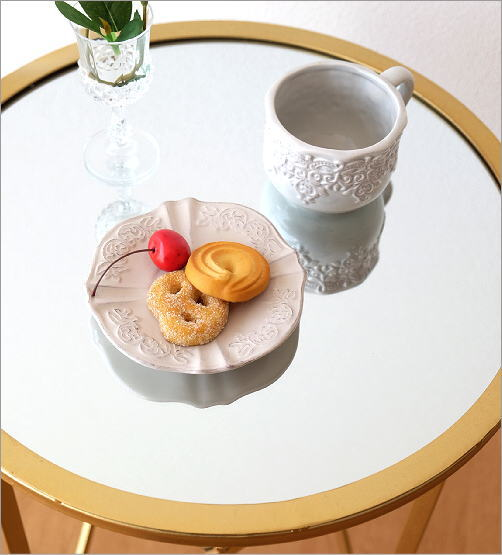 アイアンとミラーのサイドテーブル(2)