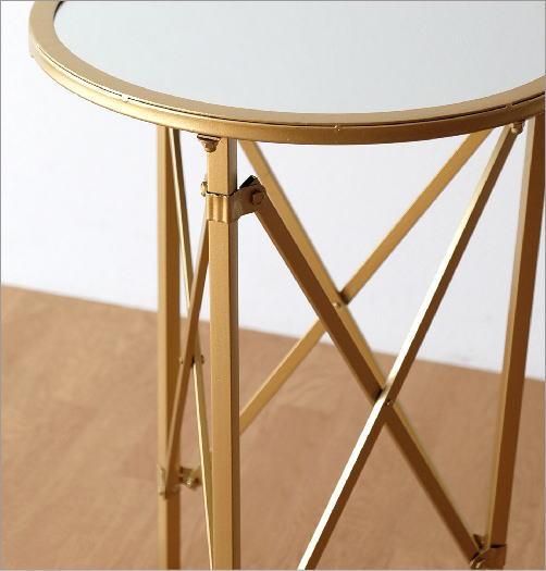 アイアンとミラーのサイドテーブル(3)