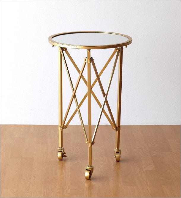 アイアンとミラーのサイドテーブル(5)