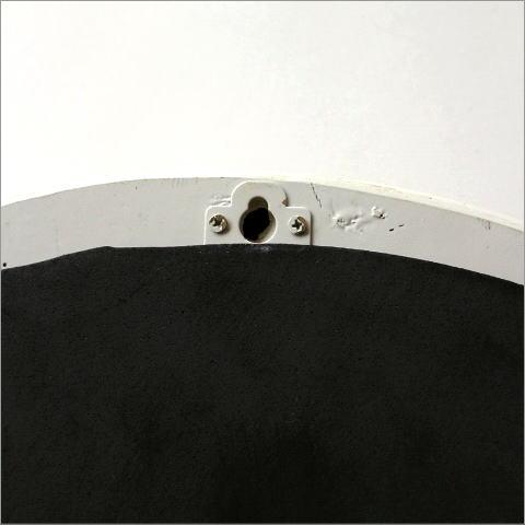 アンティークホワイトのオーバルミラー(3)