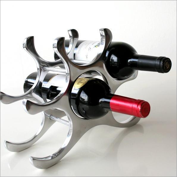 アルミのスタイリッシュワインホルダー(1)
