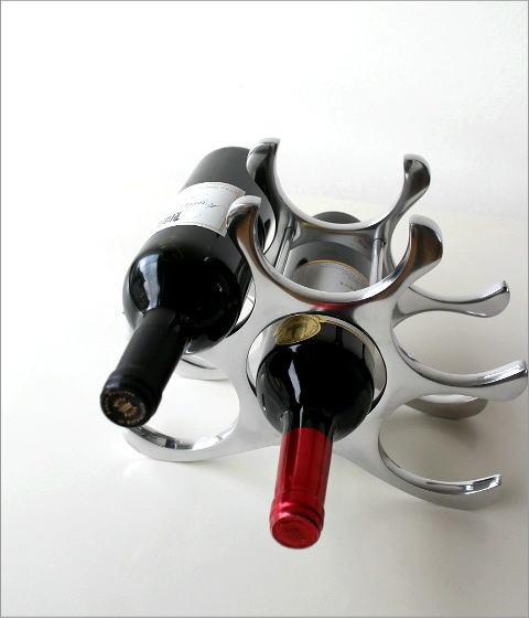アルミのスタイリッシュワインホルダー(4)