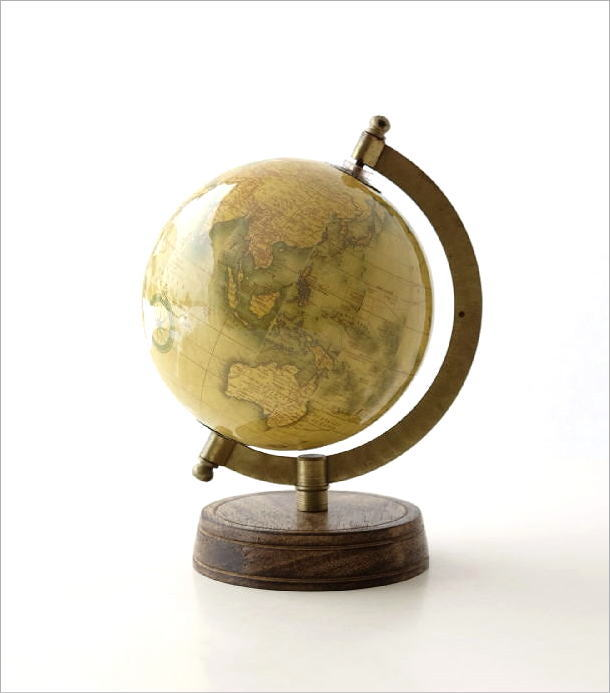 レトロな地球儀 B(5)