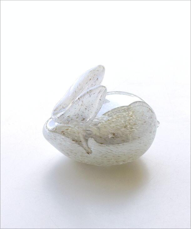 ガラスのオブジェ ウサギ(4)