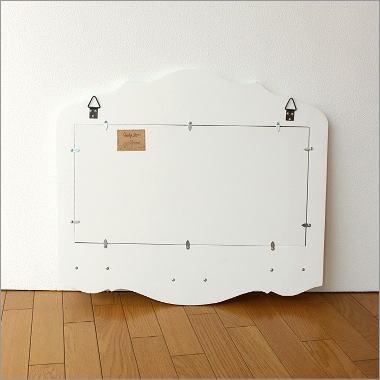 ホワイトウッドのミラー付きコートラック(4)