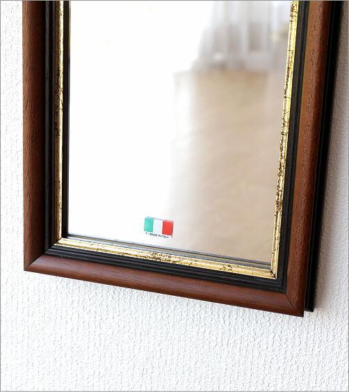 スリムな壁掛けミラー BR(4)