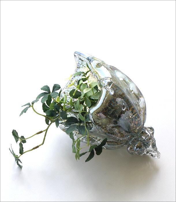 ガラスのオブジェ シェルブルー(1)
