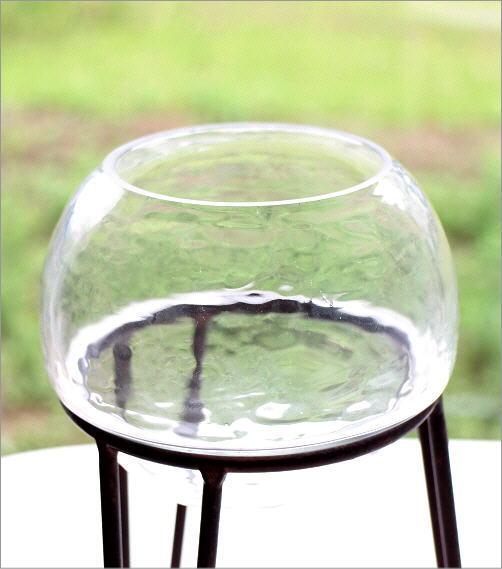 アイアンとガラスのキャンドルホルダー トライアングル(4)