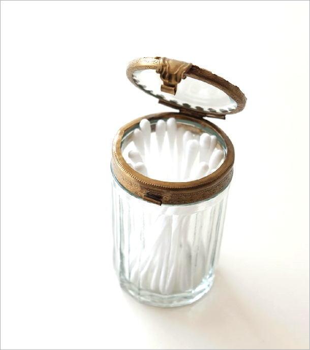 真鍮とガラスの綿棒ケース(1)