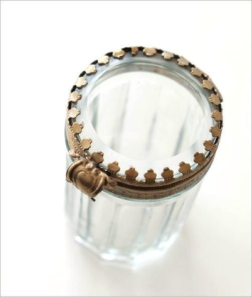 真鍮とガラスの綿棒ケース(2)