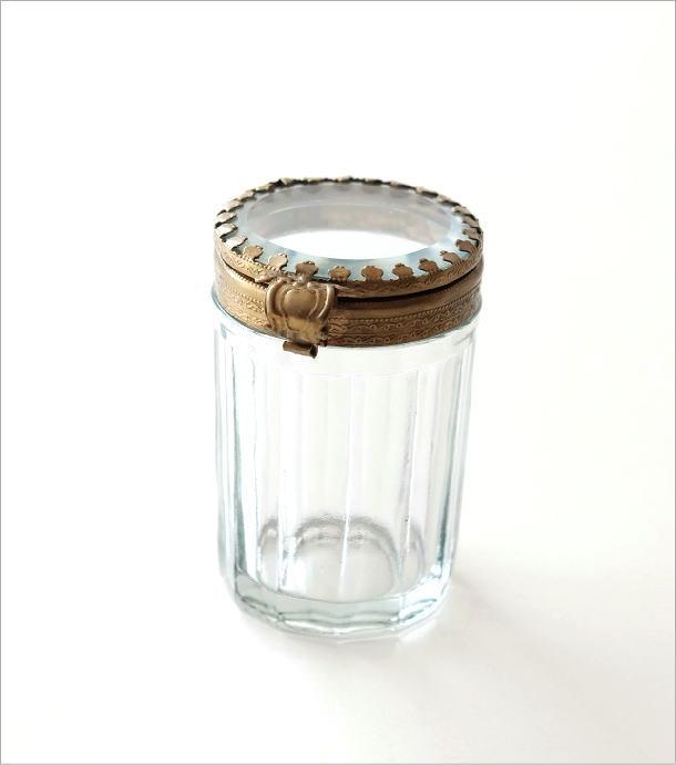 真鍮とガラスの綿棒ケース(4)