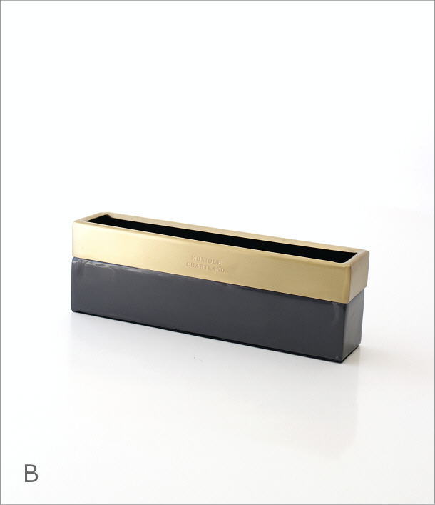 真鍮とエナメルのスリムボックス 2カラー(7)