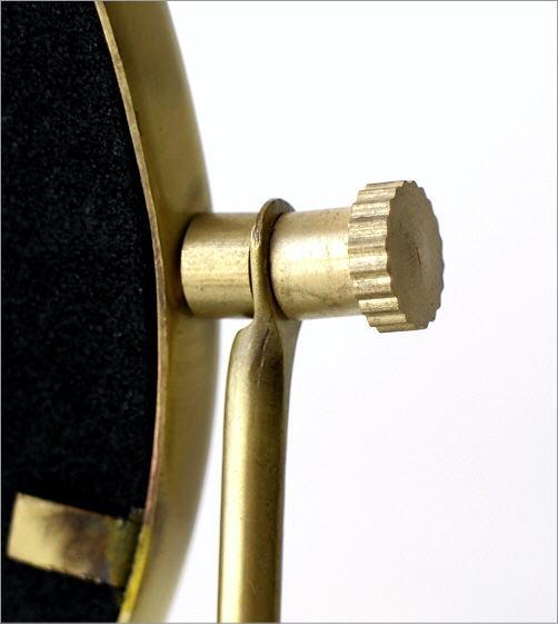 真鍮とエナメルのスタンドミラー(3)