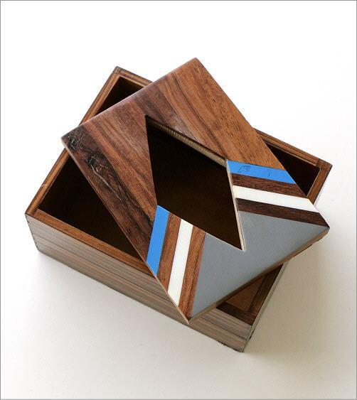 ボーンとウッドのポケットティッシュBOX A(2)