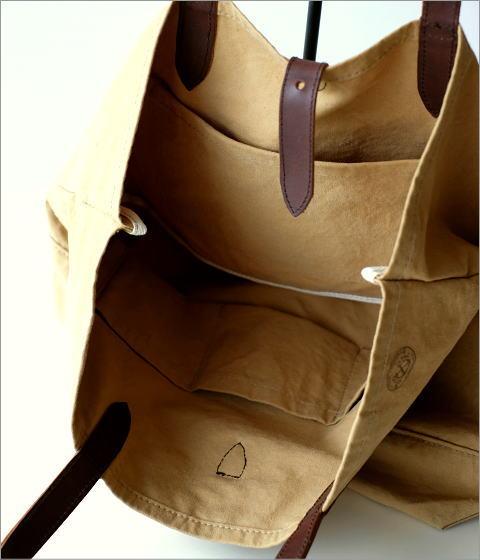革とテント地のトートバッグ(4)