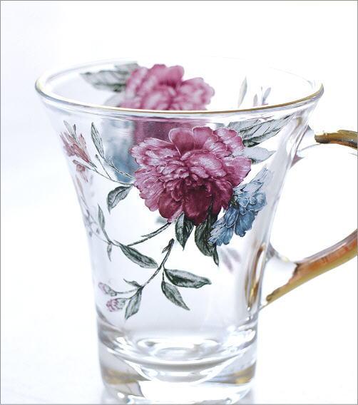 ガラスカップのC&S フラワーピオニー(2)