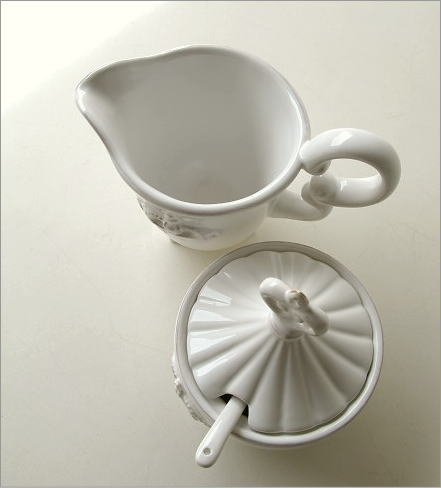陶器のシュガー&クリーマー(2)
